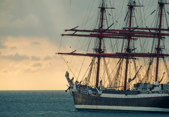 ancient tall ship
