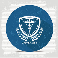 Medical badge symbol,vector