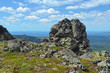 Rock on the Third Bugor Mount in Northern Ural Mountains