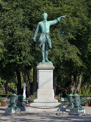 Statue of Charles XII in Stockholm, Sweden