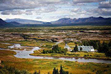 Thingvellir plain in Iceland