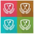 Spoon badge,vector