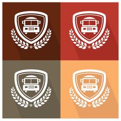 School bus badge,vector