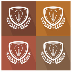 Lightbulb badge,vector