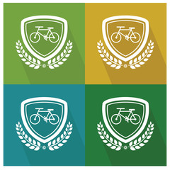 Bicycle badge,vector