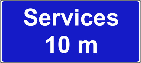 Service area motorway sign