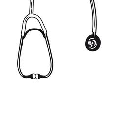 Abhorchen Stethoskop um den Hals