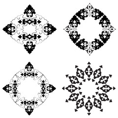 Ottoman motifs design series with thirty-six