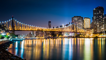 Queensboro bridge by night
