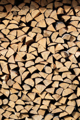wood in a woodpile background