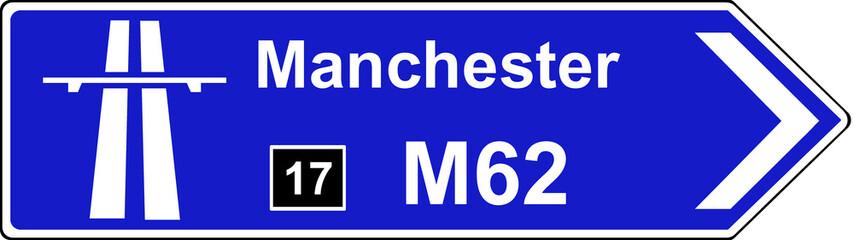 Direction to start of motorway regulations sign