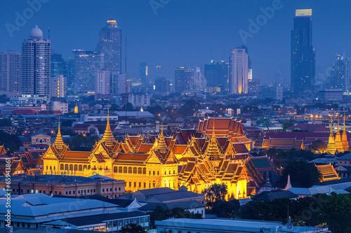 Grand palace at twilight in Bangkok, Thailand - 65943861