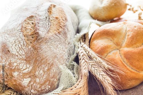 Fototapeta Ears grain bakery products