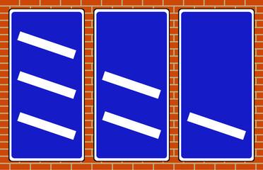 Motorway countdown markers