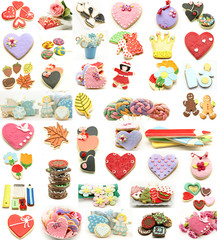 Collage de galletas decoradas