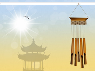 illustration of wind chimes
