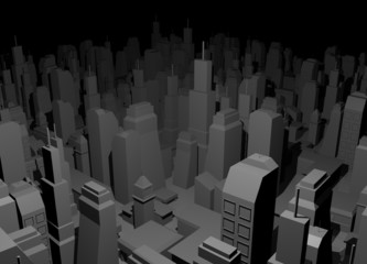 Night city render