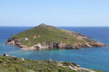 kleine Insel mit Kapelle vor Patmos