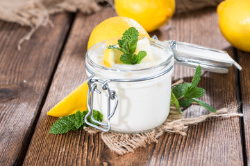 Fresh made Lemon Yoghurt