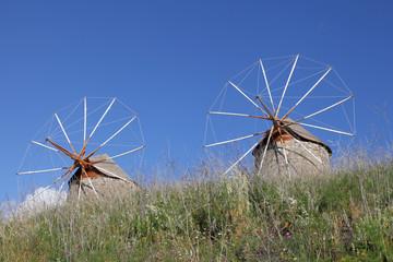 Windmühlen auf Patmos, Griechenland