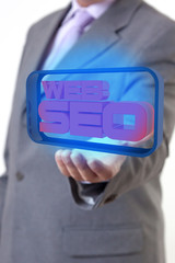 Web SEO Businessman