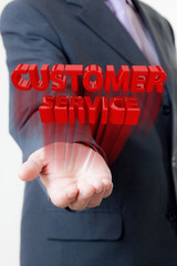 Businessman customer service