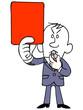 レッドカードを出すビジネスマン