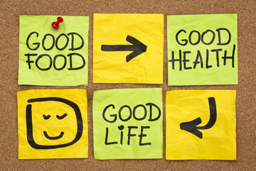 good food, health and life