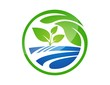 global nature logo,water plants symbol,underwater icon