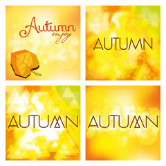 Set Of Different Abstract Autumn Backgrounds
