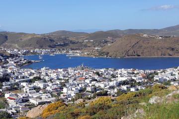Blick auf die Bucht von Skala, Patmos