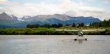 Single Prop Airplane Pontoon Plane Water Landing Alaska