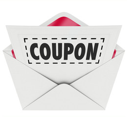 Coupon Envelope Cut Out Dotted Line Special Offer Sale