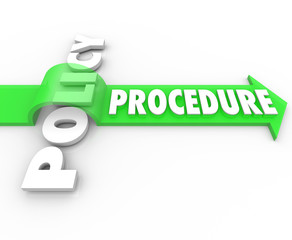 Procedure Arrow Jumping Over Policy Word Practice Process
