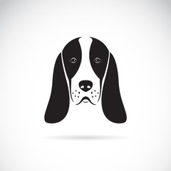 Vector image of an basset hound head
