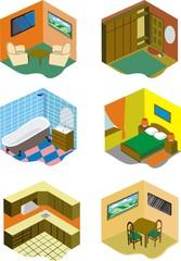 Rooms in the home