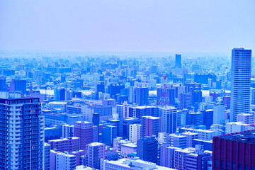 早朝の札幌市街