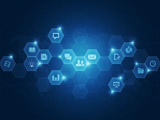 social business communication  background