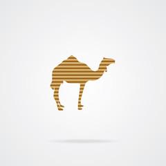 Camel Icon. EPS-10.