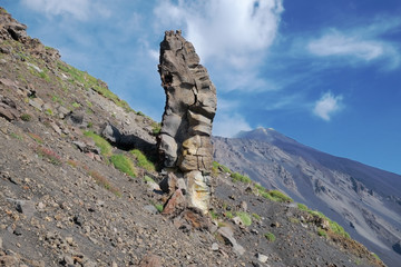 Rock Formation In Etna Park, Sicily