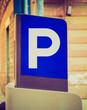 Retro look Parking sign