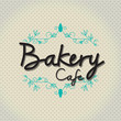 "Typo vector with word ""bakery cafe"""