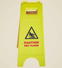 Retro look Wet Floor sign