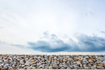 Stone wall as wave protection to avoid collusion
