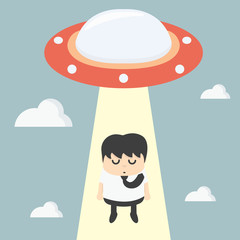 ufo choosing worker businessman