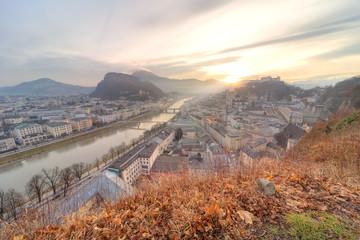 Panoramic view of Salzburg skyline