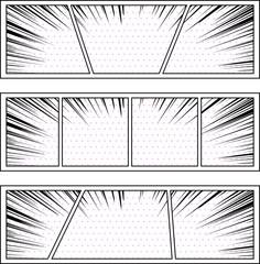 コミック 集中線 ドット