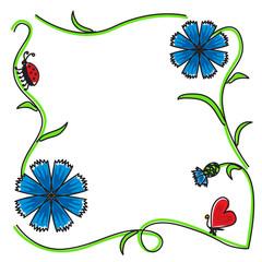 Cornflowers frame