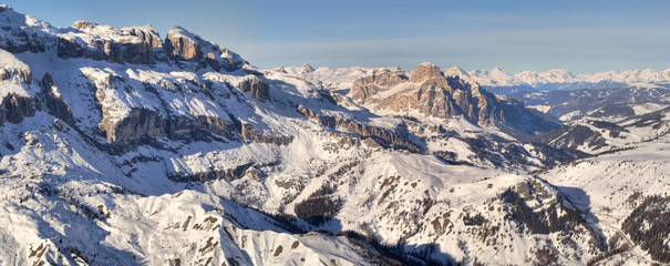Winter mountains in Italian Alps