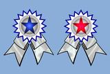 Cocarde - étoile rouge et bleue - Distinction poster